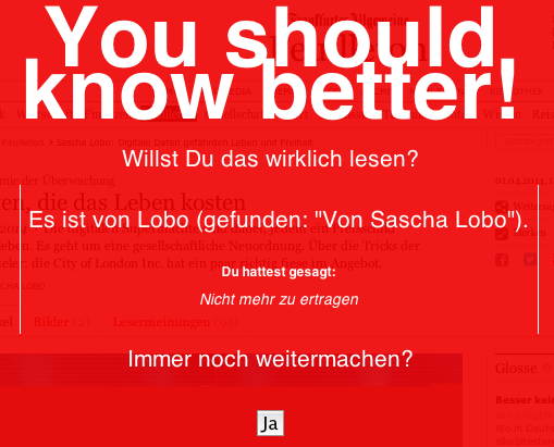 »You should know better« – wie ich mich per Browser-Plugin vor Autoren warnen lasse