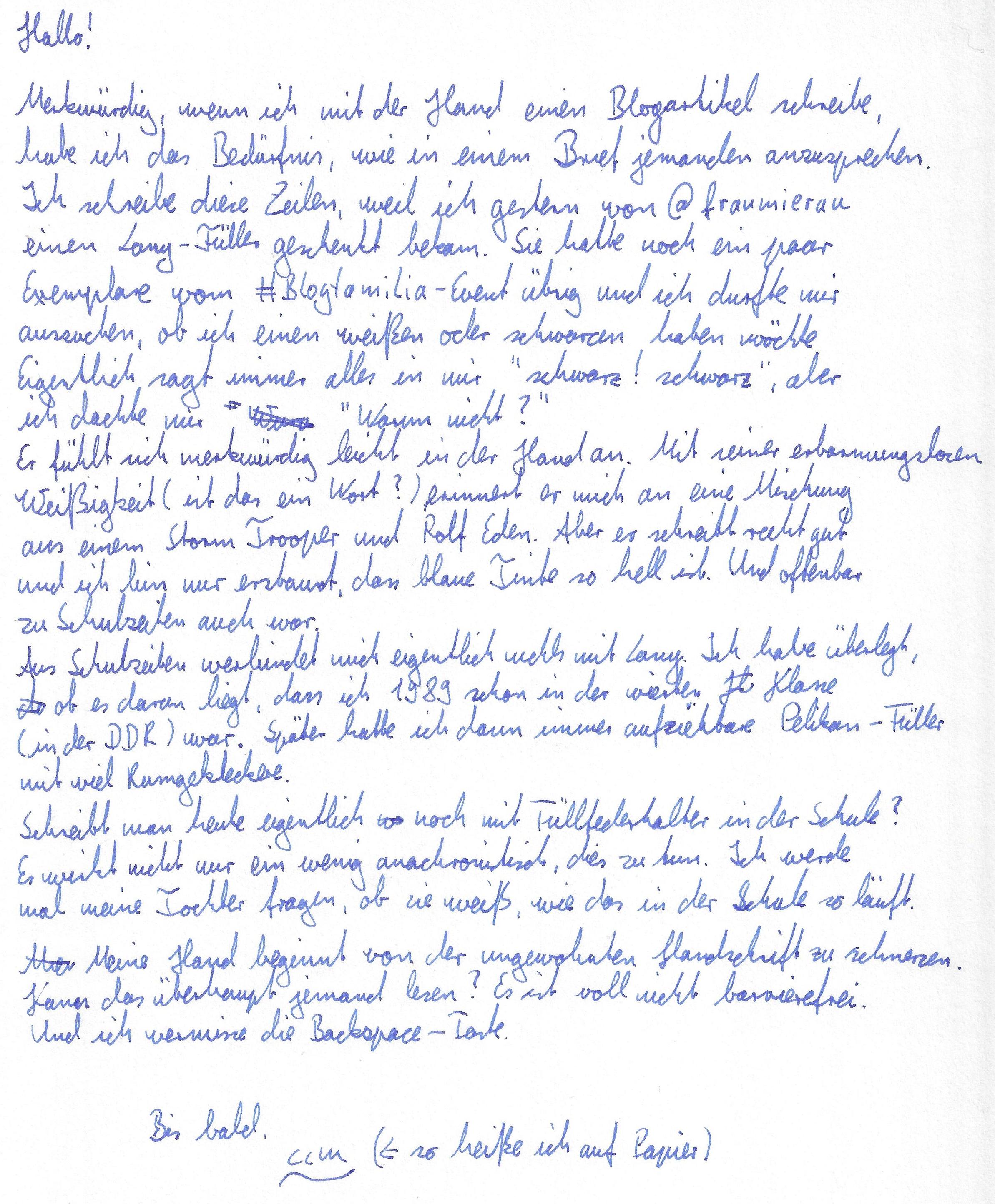 Blogartikel über Lamy-Füller