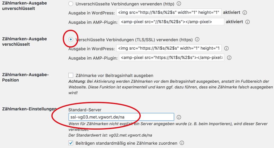VG Wort Zählpixel und HTTPS - Einrichtung mit Prosodia VGW OS