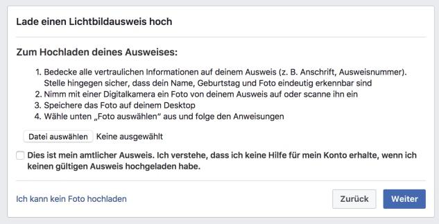 facebook verifizierung umgehen